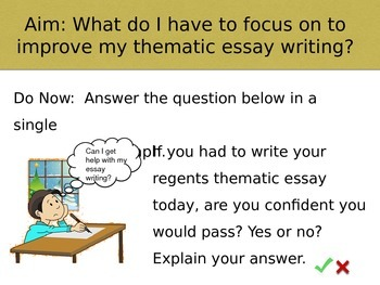 How to write a thematic essay for the regents