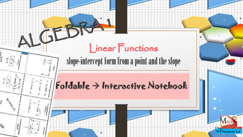 Linear Functions - Finding slope intercept form from given