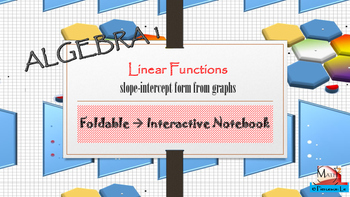 Linear Functions - Find slope intercept form from linear g