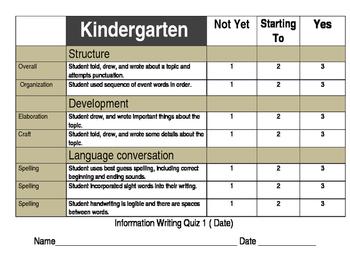 How to writing Assessment Kindergarten