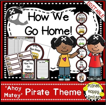 "How we go home ~ Transportation Bundle (Editable) ~ ""Ahoy"
