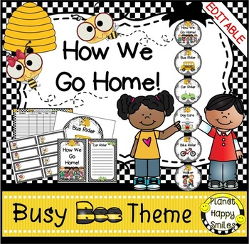 How we go home ~ Transportation Bundle (Editable) ~ Busy Bee Theme