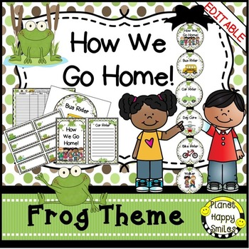 How we go home ~ Transportation Bundle (Editable) ~ Frog Theme
