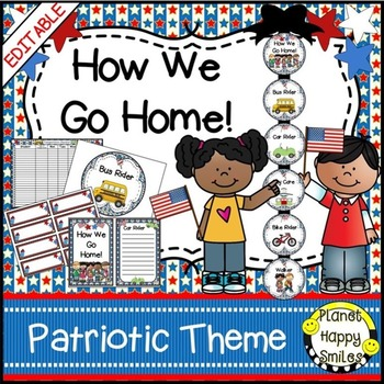 How we go home ~ Transportation Bundle (Editable) ~ Patrio