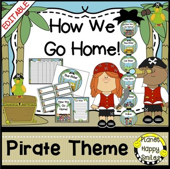 How we go home ~ Transportation Bundle (Editable) ~ Pirate Theme