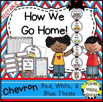 How we go home ~ Transportation Bundle (Editable) ~ Chevron