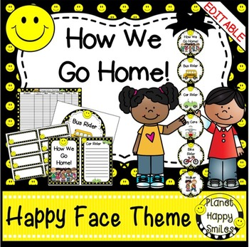 How we go home ~ Transportation Bundle (Editable) ~ Smiley Face Theme