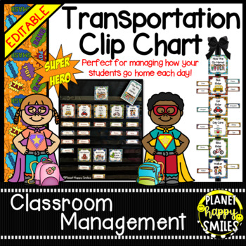 How we go home ~ Transportation Bundle (Editable) ~ Super Hero