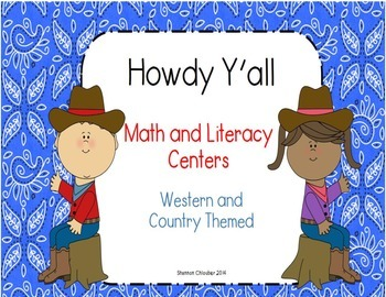 Howdy Y'all  - Western and Country themed Literacy and Mat
