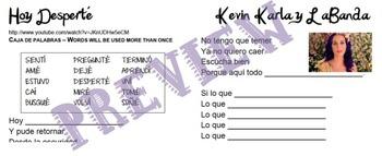 Hoy Desperté - Kevin Karla y La Banda Cloze practice with