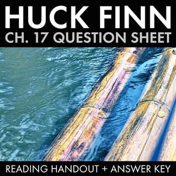 Huck Finn Ch. 17 Worksheet, Fun Mid-Novel Team Activity fo
