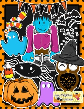Huge Fall / Halloween Clip Art Freebie