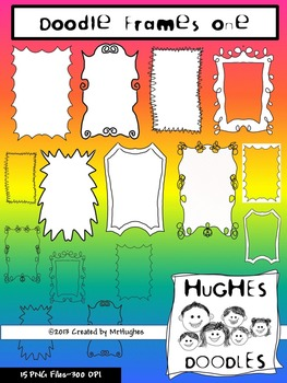 Frames Set One- Hughes Doodles {Personal and Commercial Use}