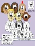 Hughes Doodles- Doodle Friends Clipart FREEBIE Set 1