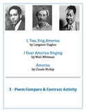 "Hughes, Whitman & McKay ""America"" Poems Compare/Contrast Activity"