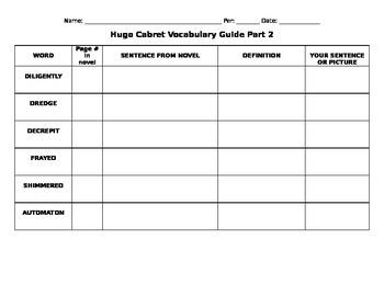 Hugo Cabret Vocabulary Part 2 of 3