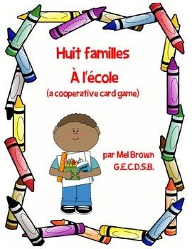 Huit familles card game - à l'école