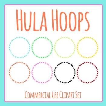 Hula Hoops Clip Art Set for Commercial Use