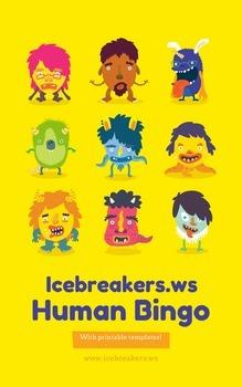 Human Bingo - Autograph Bingo Icebreaker Game: Printable T