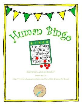 Human Bingo Icebreaker {Freebie}