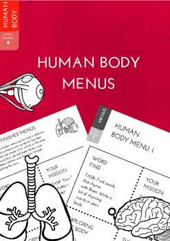 Human Body Early Finisher Menus
