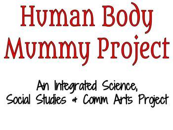 Human Body Mummy Project - Student Presentation Checklist