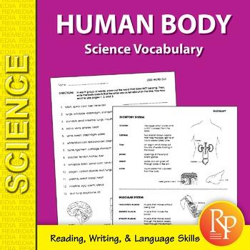 Human Body: Science Vocabulary
