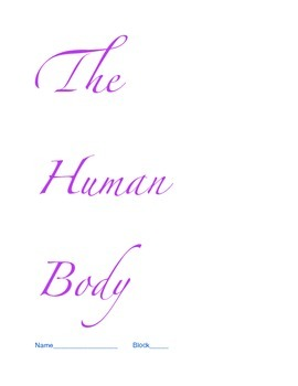 Human Body Student Notebook-Complete Unit