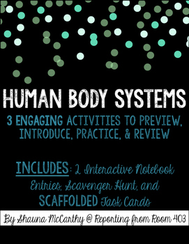 Human Body Systems Activity Pack