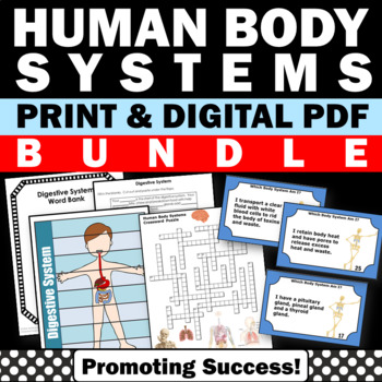 human body systems printable activities