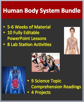 Human Body Systems - Lessons, Lab Stations, Readings, Proj