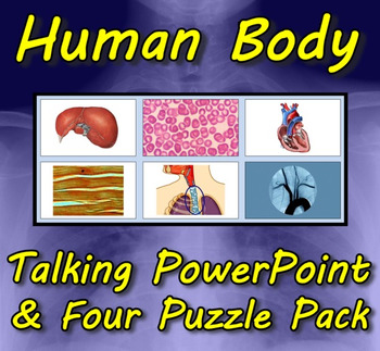 Human Body Talking PowerPoint & Four Puzzle Pack