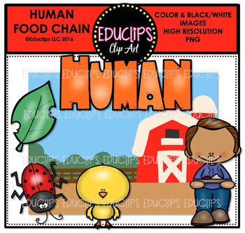Human Food Chain Clip Art Mini Bundle {Educlips Clipart}