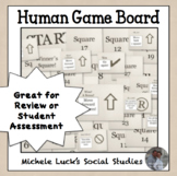 Human Game Board Class Activity Floor or Wall Squares in Brown