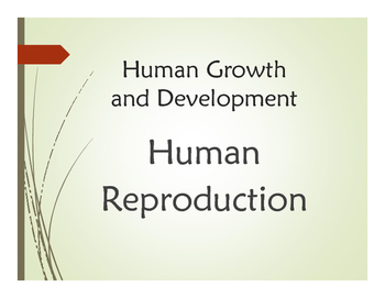 Human Growth and Development: Human Reproduction PowerPoin