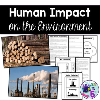 Human Impact on the Environment: Nonfiction Passage and Foldables