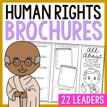 10 Human Rights Leaders Research Brochures, Mini Book, Int