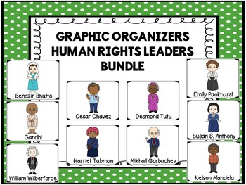 Human Rights Leaders Bundle- Graphic Organizers