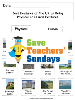 Human and Physical Features of the UK Lesson plan, PowerPo