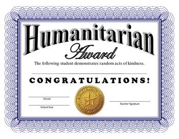 Humanitarian Certificate