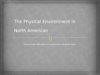 Humans Affecting the Environment Power Point