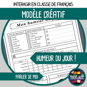 French/FFL/FSL - Printables - Daily mood tracker