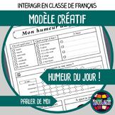 FFL/FSL - Printables to teach French - Daily mood tracker