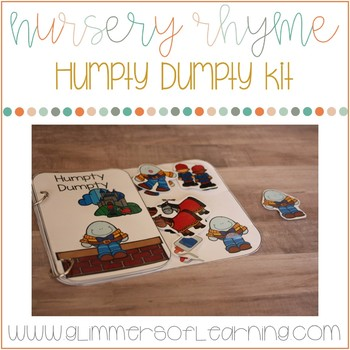 Humpty Dumpty Interactive Book and Questions