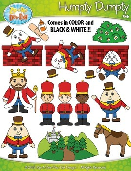 Humpty Dumpty Nursery Rhyme Clipart Set — Over 55 Graphics!
