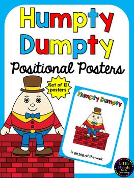 Humpty Dumpty Positional Language Posters