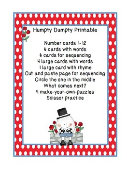 Humpty Dumpty Printable