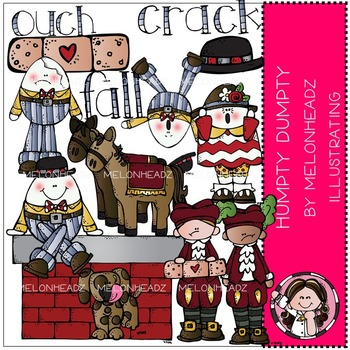 Melonheadz: Humpty Dumpty clip art - COMBO PACK