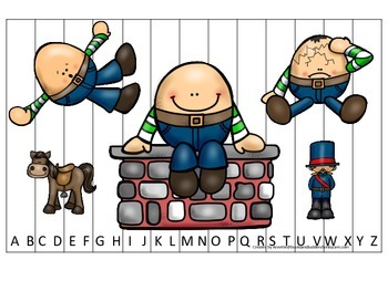 Humpty Dumpty themed Alphabet Sequence Puzzle child daycar