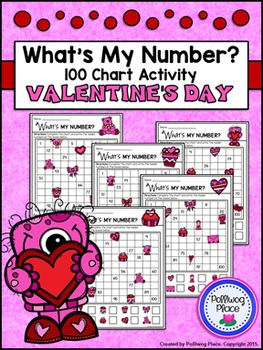 Hundred Chart Activity: Missing Numbers - Valentine's Day